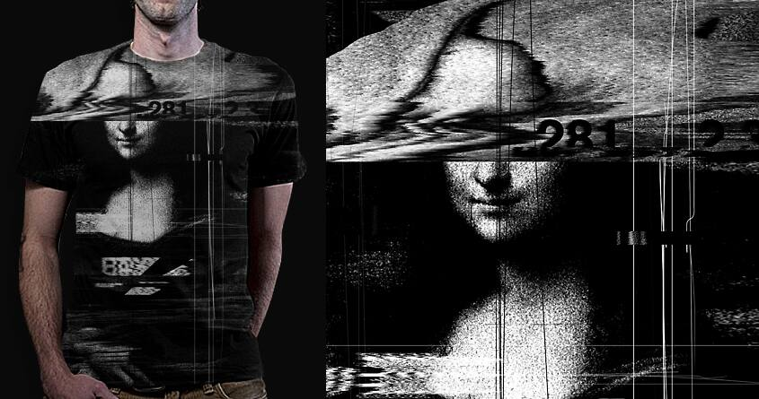 Mona Lisa Glitch by nicebleed on Threadless
