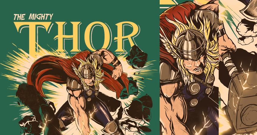 God of Thunder by iamrobman and mitchel_dosdos on Threadless