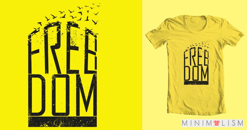 Freedom by bariskaplan on Threadless