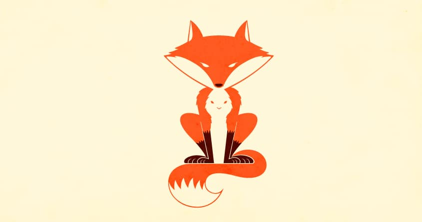 Mister fox and the hidden rabbit by weird&co on Threadless