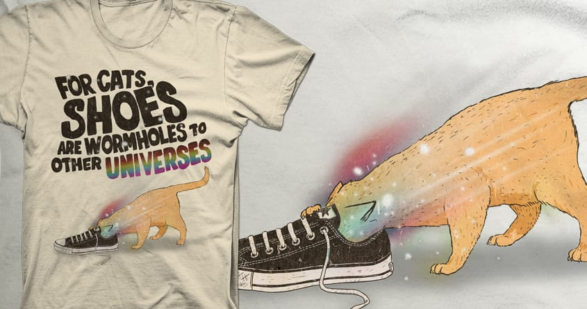 For Cats, Shoes Are Wormholes To Other Universes by iheartjlp on Threadless