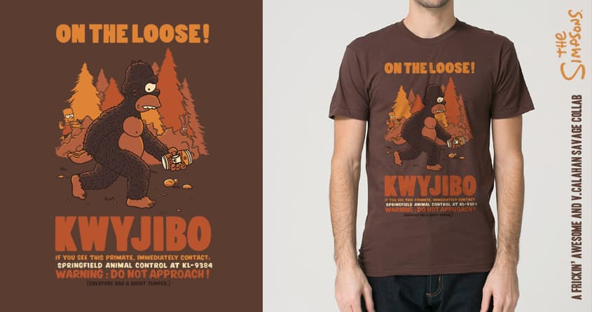 KWYJIBO on the Loose! by FRICKINAWESOME and v_calahan on Threadless