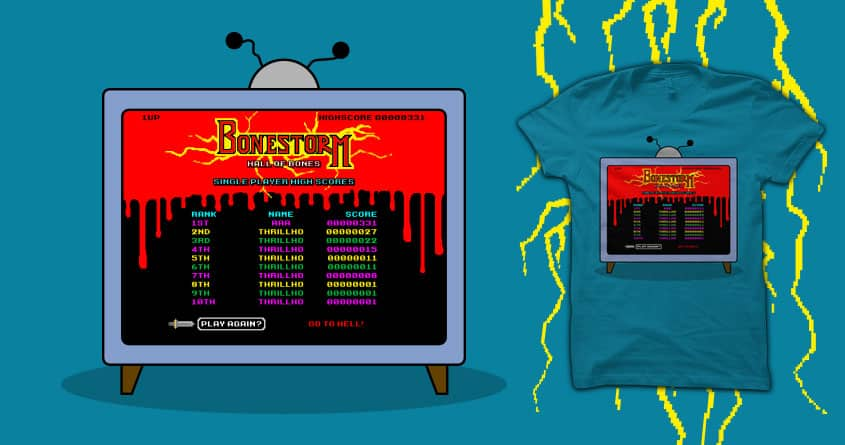 BUY ME BONESTORM OR GO TO HELL! by FRICKINAWESOME and quick-brown-fox on Threadless