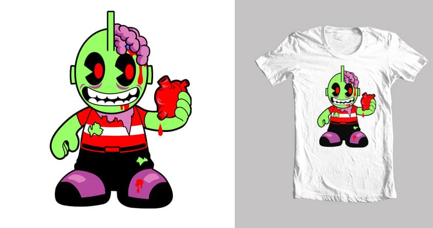 ZombieRobot by Iconwalk on Threadless