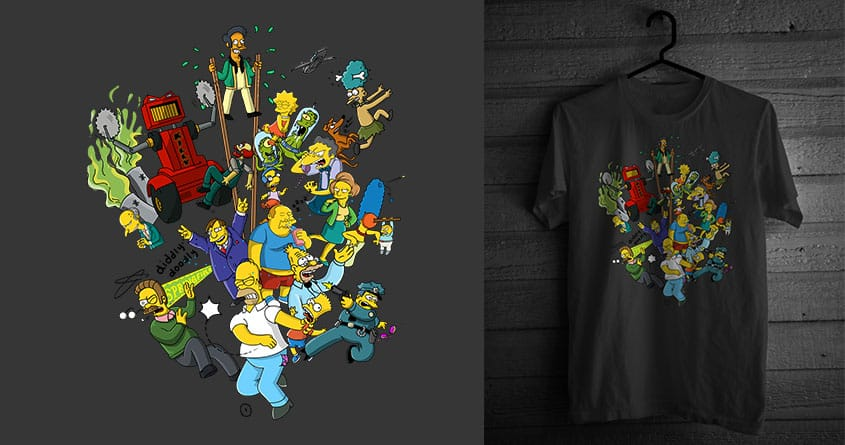 The Simpsons by azrael5 on Threadless