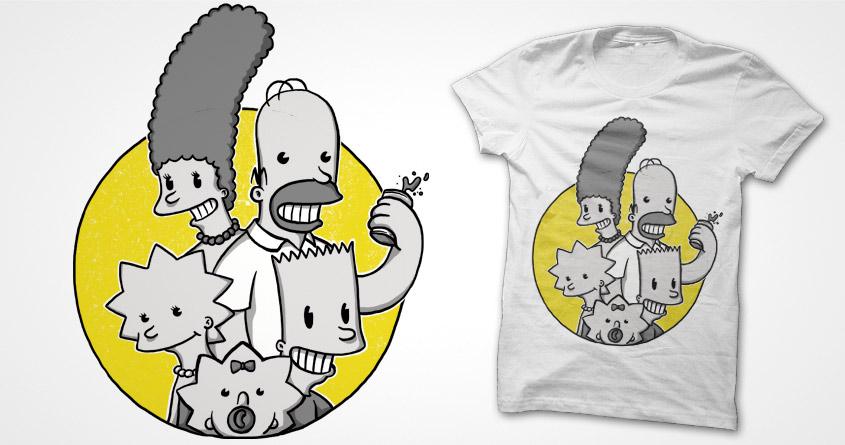The Simpsons go retro by Raulio on Threadless