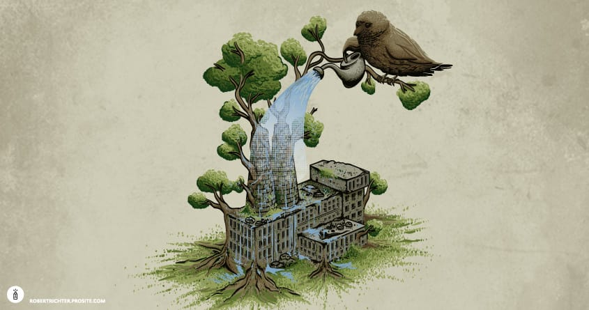 Factory Plant by Robert_Richter on Threadless