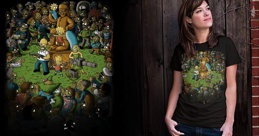 Zombies in Springfield! by Tony Centeno on Threadless