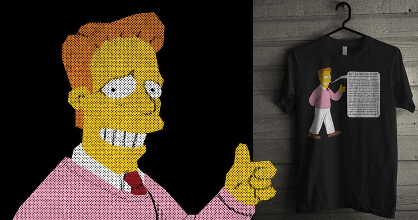 Straight Line Troy McClure by arzie13 on Threadless
