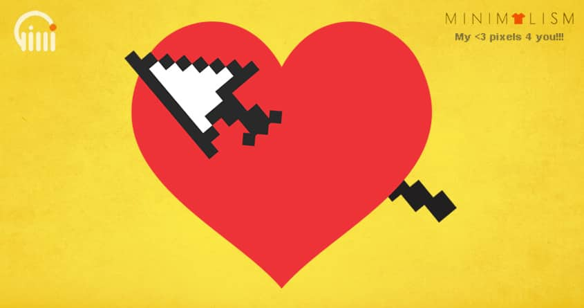 My <3 pixels 4 you!!! by opippi on Threadless