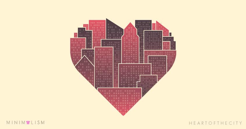 Heart of the City by quick-brown-fox on Threadless