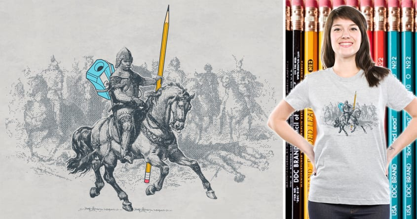 The Mighty Pencil Knight by Goto75 on Threadless