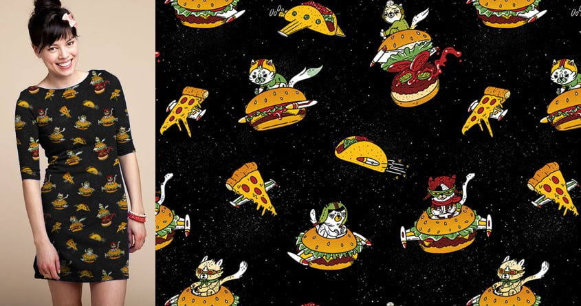 I Can Haz Cheeseburger Spaceships? by TheInfamousBaka on Threadless