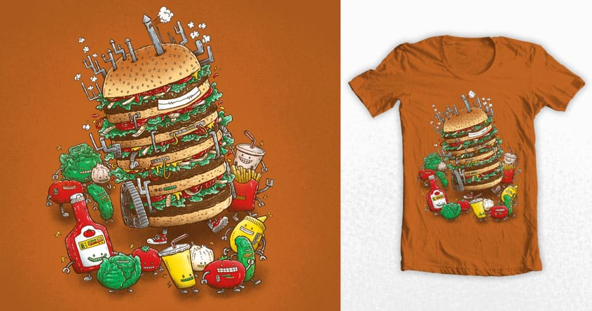Uber BurgerBot by nickv47 on Threadless