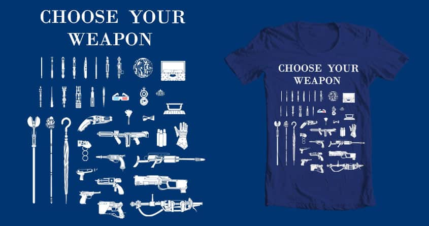 Choose Your Weapon: Time Lords by BC_Arts on Threadless
