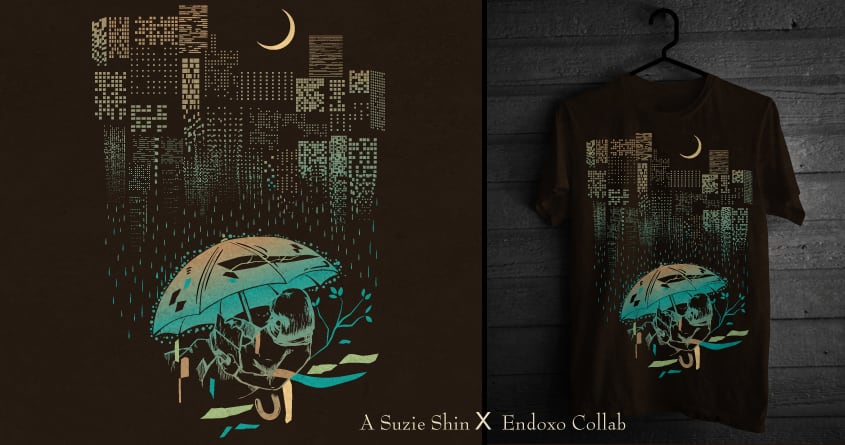Neon Rain by endoxo and suzieshin on Threadless