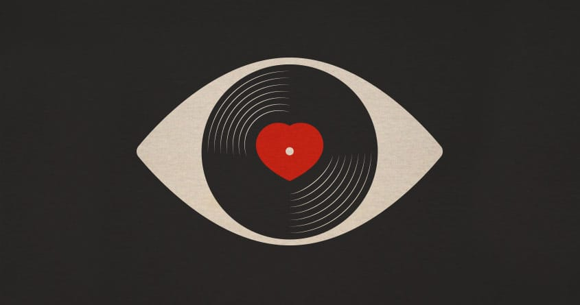 Eye Love Vinyl by FRICKINAWESOME and quick-brown-fox on Threadless