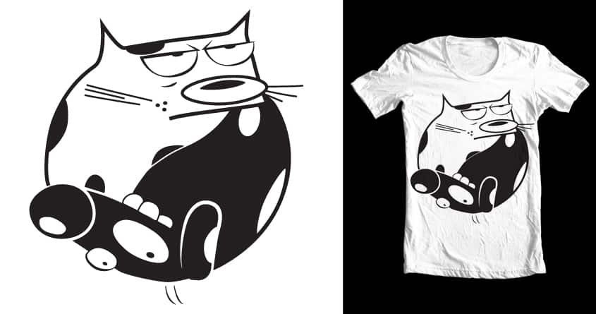Opposites Attract by respecthestache on Threadless