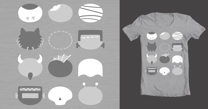 OLD SCHOOL MINIMALIST MOVIE MONSTERS by Chayground on Threadless