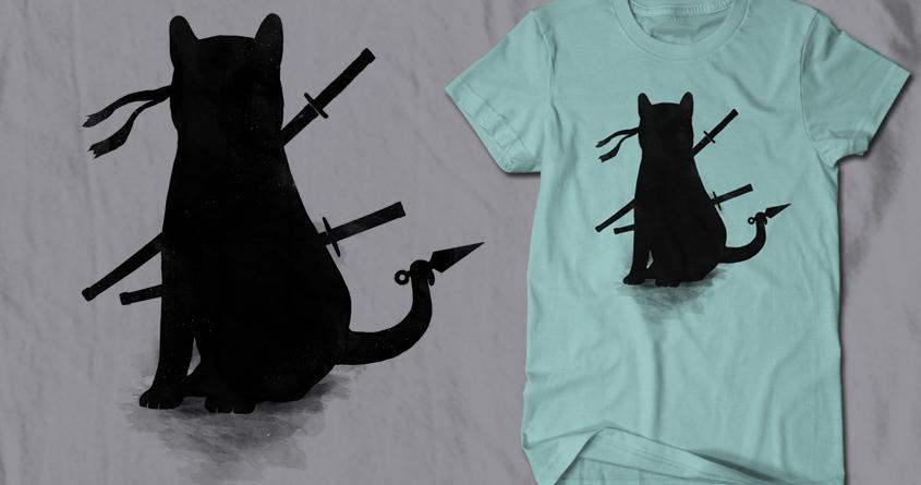 Ninja Cat by Doodle by Ninja! on Threadless