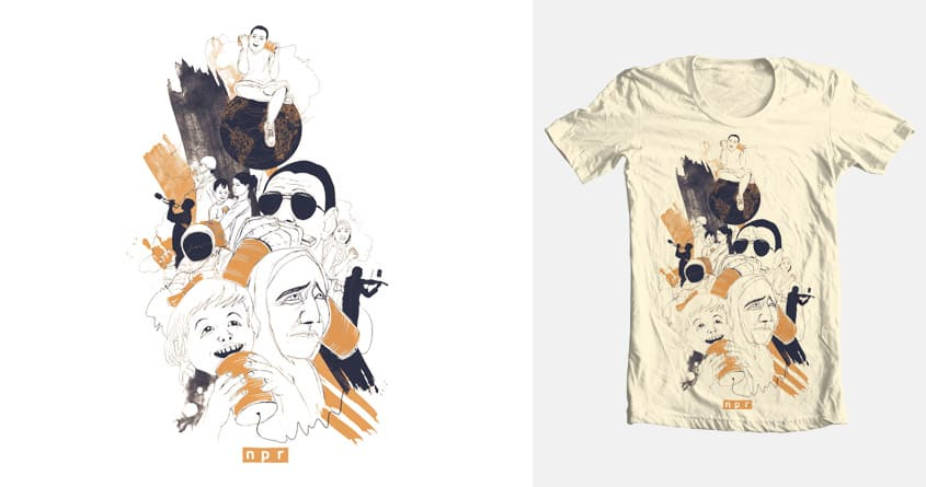 NPR keeping us all connected  by soloyo and cmasse on Threadless