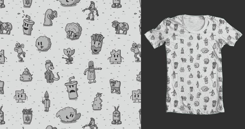 Aqua Throwback Shirt Shirt by P0ckets and goliath72 on Threadless