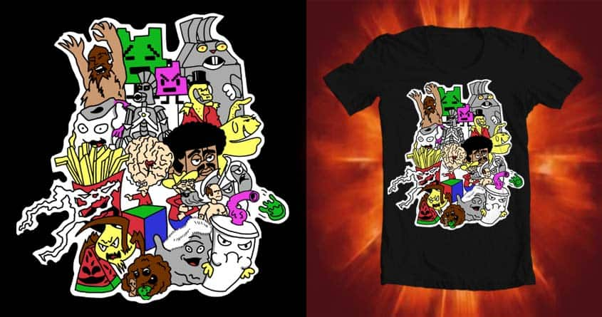 Aqua Teen Hunger Collage Go!!! by BC_Arts on Threadless
