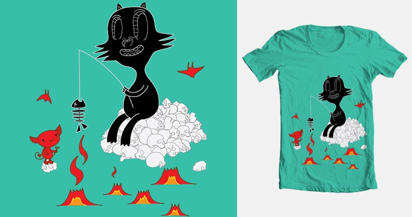 My cat in a hell  by maxuzkikh on Threadless