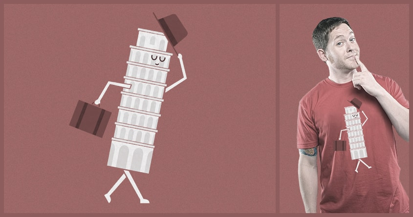 The Leaving Tower Of Pisa by TeoZ on Threadless