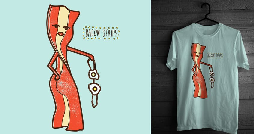 bacon strips by campkatie on Threadless