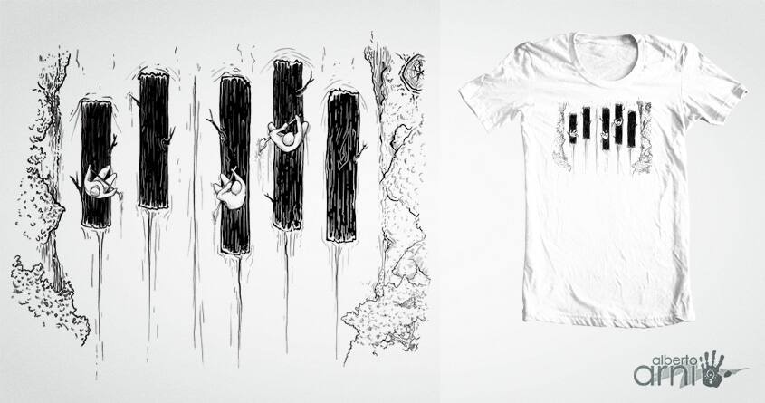 Piano River by albertoarni on Threadless