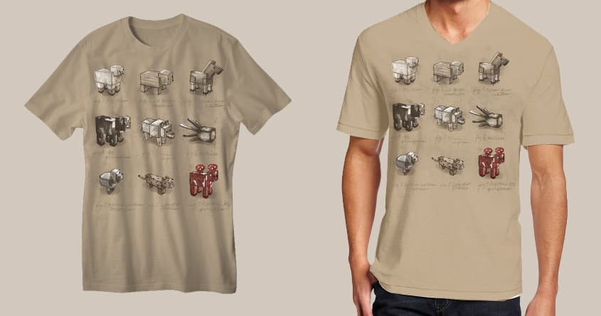 Zoology of Minecraft by Jordan_Bender on Threadless