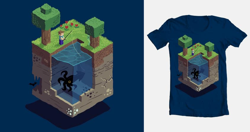 A Day in the Blocky Life by etdraws on Threadless
