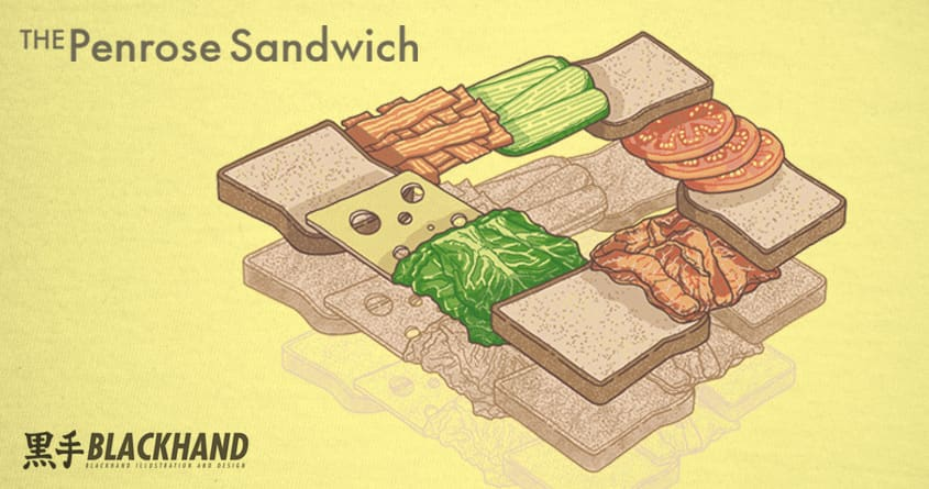 The Penrose Sandwich by blackhand_ and jaywalkergraphics on Threadless