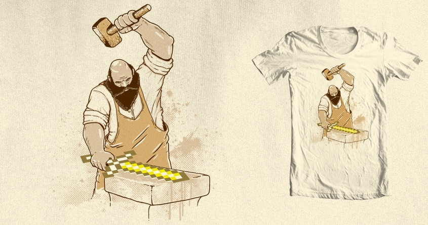 Gold Sword by uptme on Threadless