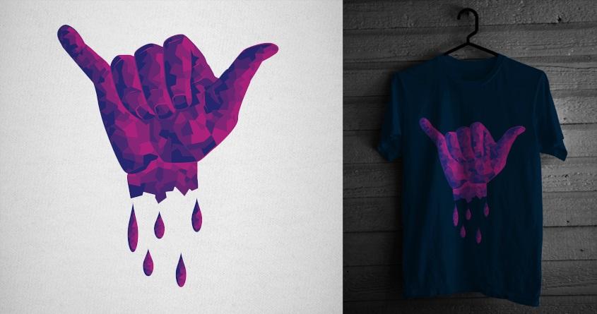 Shaka Hand Cubism by iwyn on Threadless