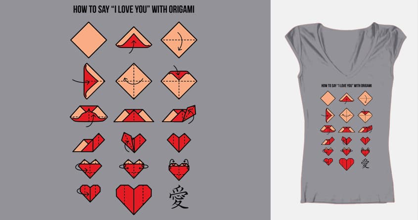 Score How To Say I Love You With Origami By Lvuorenvirta On Threadless