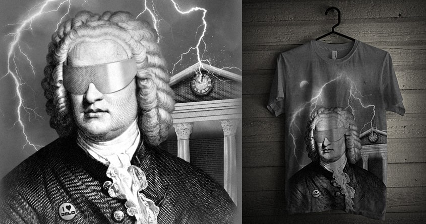 Bach To The Future by speakerine on Threadless
