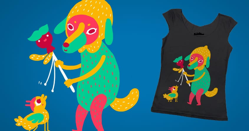Bright Colored Dog by TheInfamousBaka on Threadless