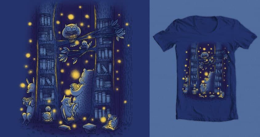 Library In The Forest by TheInfamousBaka and nickv47 on Threadless