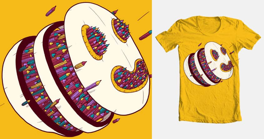 Pencil overdose by Quequito on Threadless
