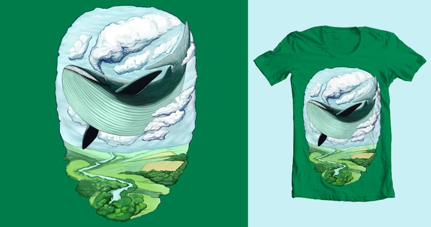 Airwhale by coy_koi on Threadless