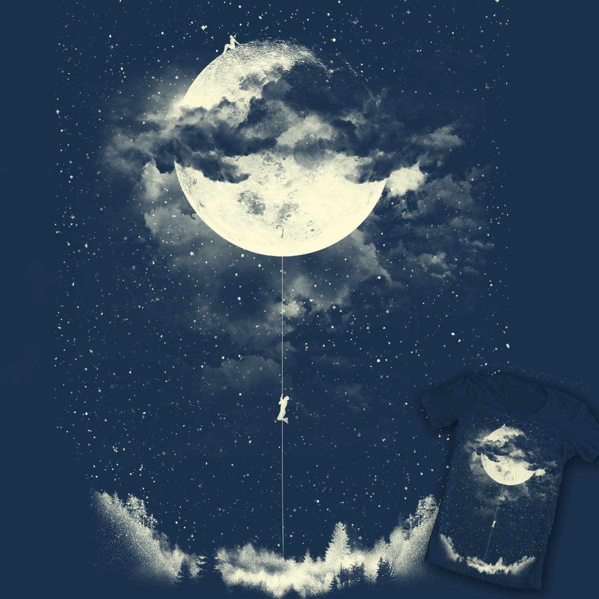moon climber by los tomatos on Threadless