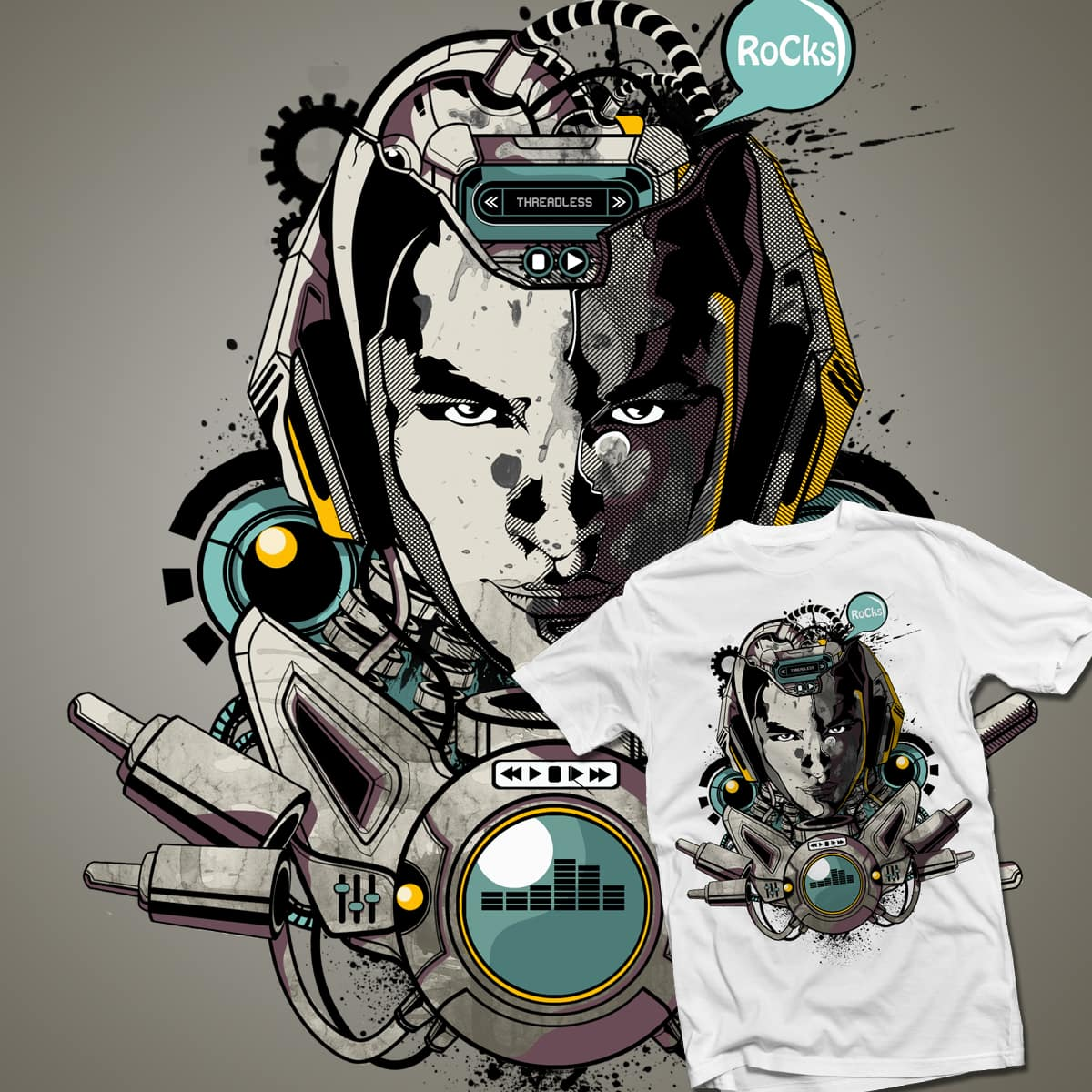 Music Machine by alang_banyu on Threadless