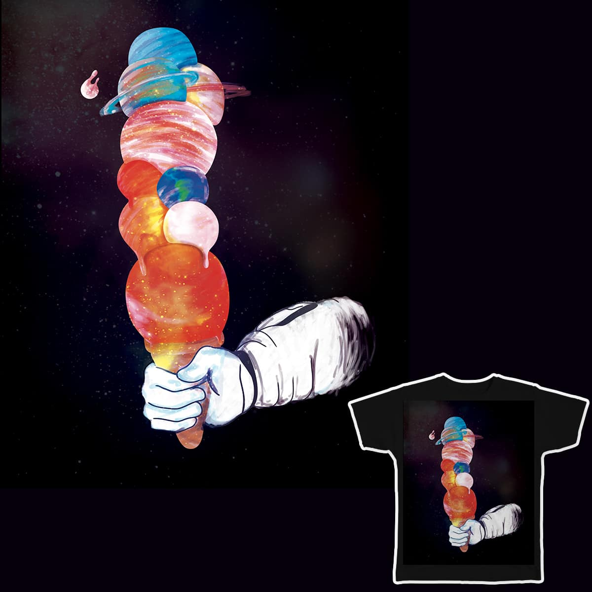 Space ice cream by Sr_Aderezo on Threadless