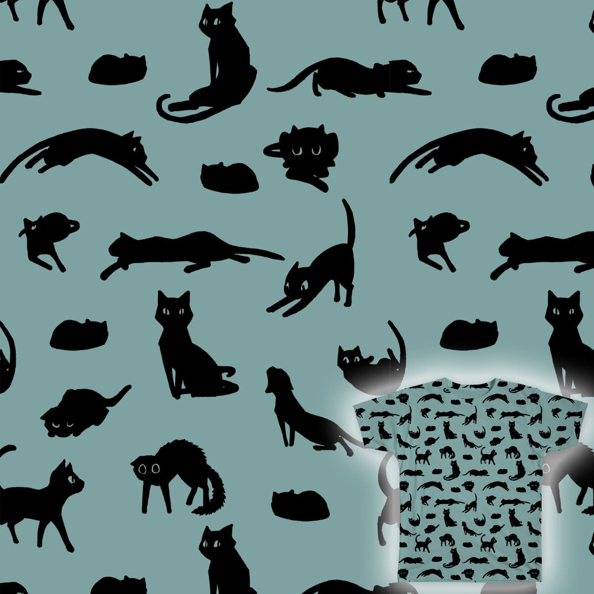 Scaredy Cats by FindChaos on Threadless