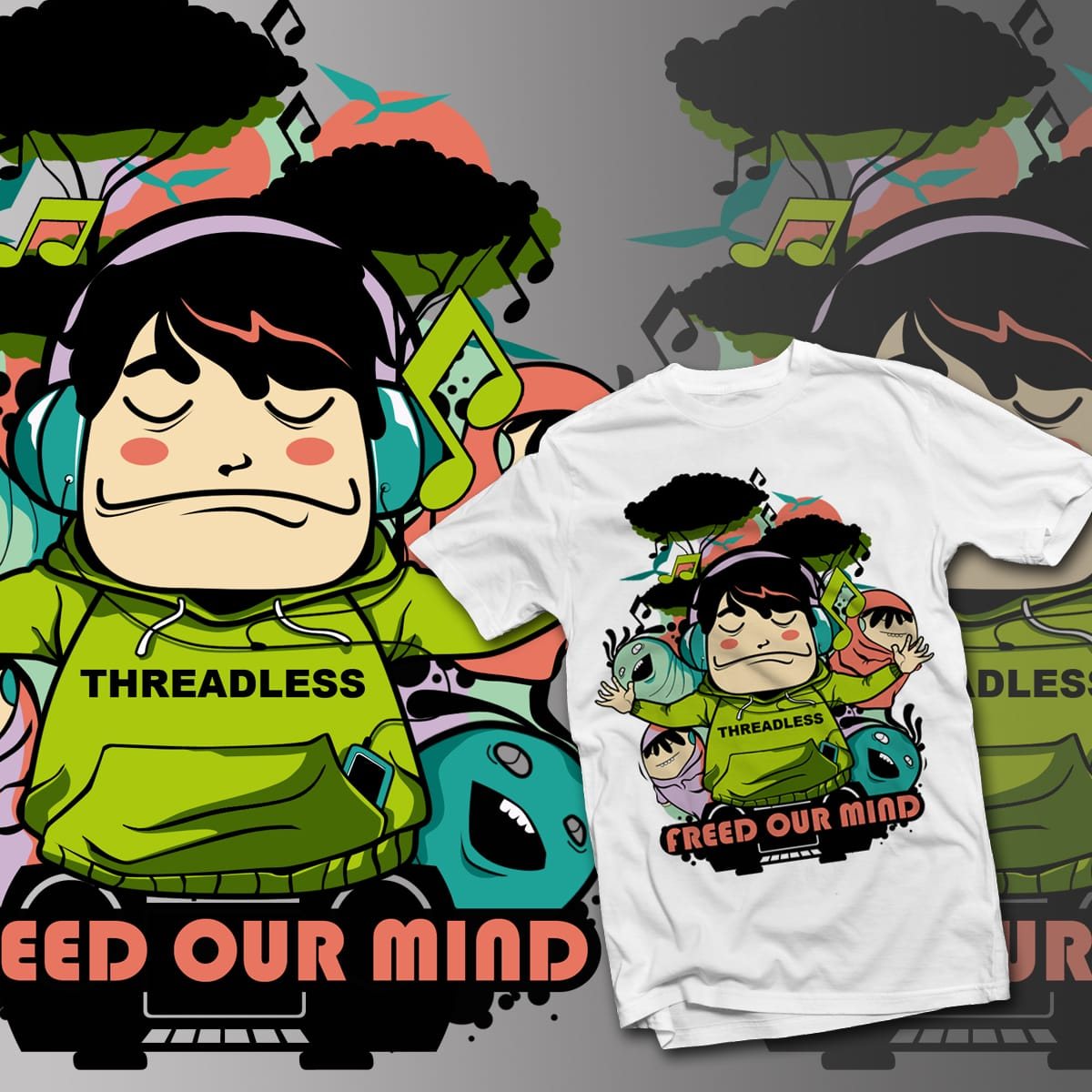 Free our mind by alang_banyu on Threadless