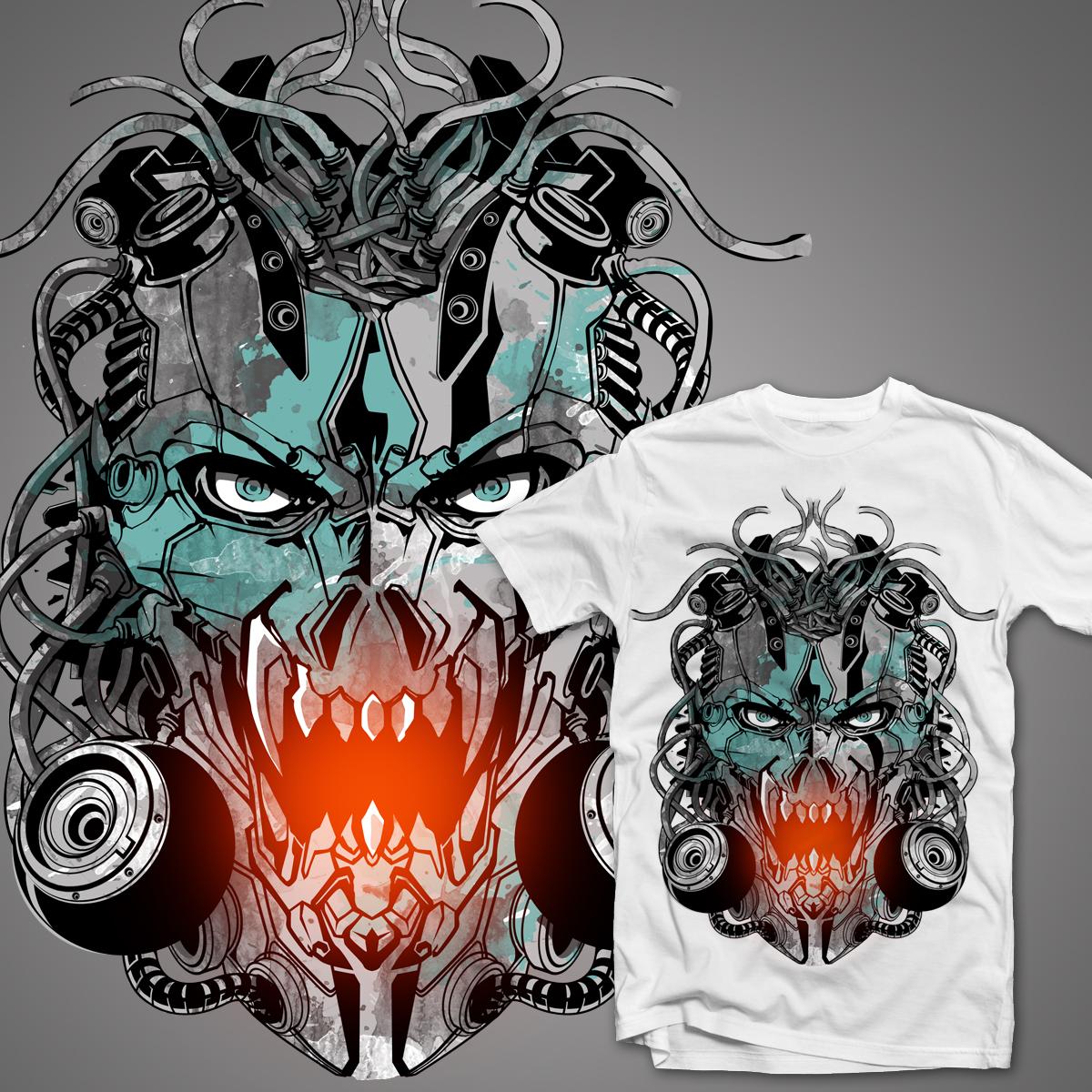 Cyborg Machine by alang_banyu on Threadless