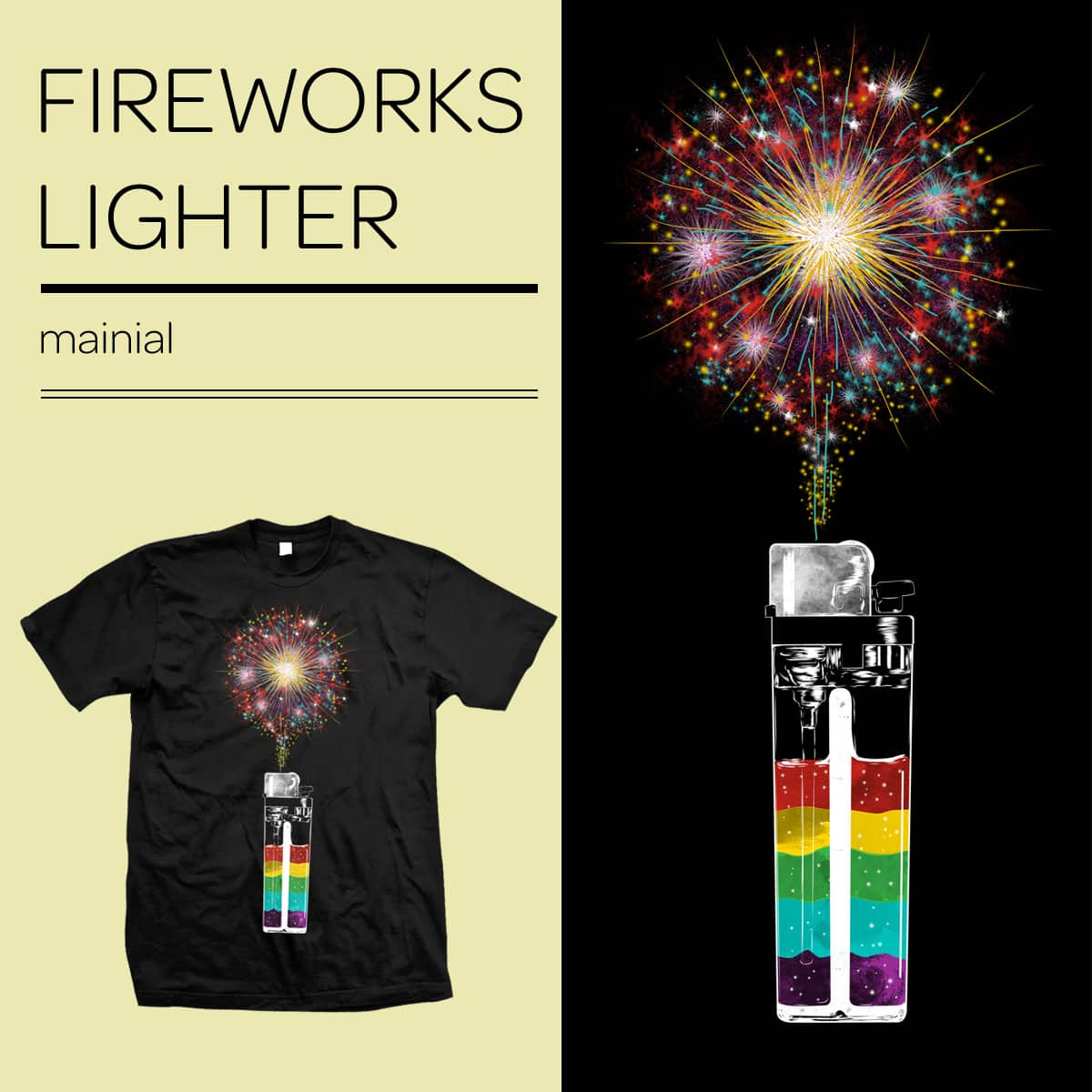 Fireworks Lighter by mainial on Threadless