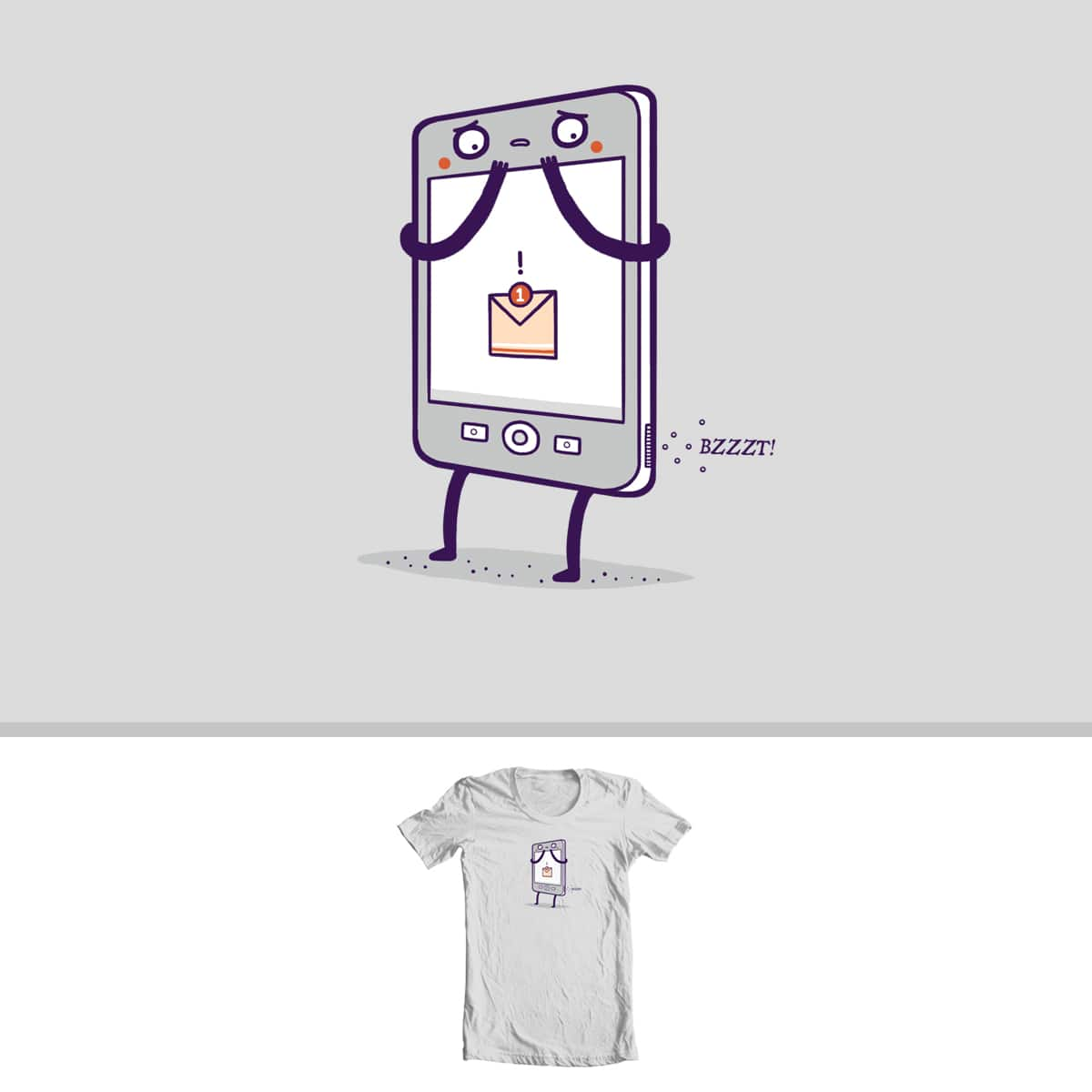 "You have a ""message"" by randyotter3000 on Threadless"